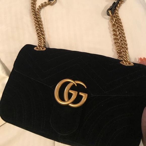 89b8bbca9dd9 Gucci Bags   Black Velvet Bag   Poshmark